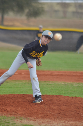 Chandler Moore scored the win over Crisp Co. with four strike-outs, one walk, and one hit by pitch.