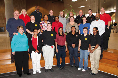 Worth County E-911 Communications Officers Suzanne West, Marci Errair, Jessica Yarbrough and Adam Celinksi recently attended Telecommunicator Emergency Response Task Force training in Forsyth. The class was a national joint effort between the Association of Public Safety Communications Officials and the National Emergency Number Association that assists states in developing programs that establish predetermined, selected and trained teams who can be mobilized and deployed quickly to assist communications centers during disasters.