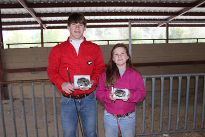 Grand Champion went to Ross Sutton and Reserve Champion went to Marley Sutton.