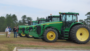 Worth County High Ag students celebrated National FFA Week by driving their tractors to school on Friday.