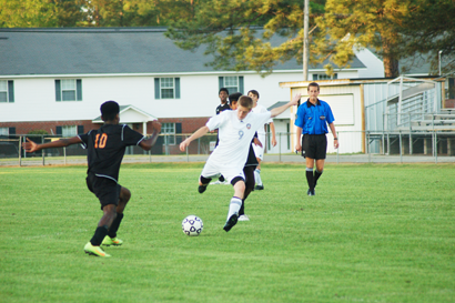 Senior Dylan Mayer scored two goals against Albany in the first round of the region tournament. He also scored the only goal against Americus last week to propel the Rams in the region championship on Thursday.