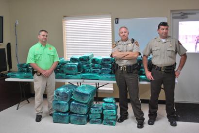 Worth County Sheriff Jeff Hobby, Chief Bobby Sapp and Investigator Andy Hamilton
