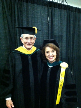Dr. Joe Turner, internist and founder of Affinity Clinic, with Dr. Jacqueline Fincher, current president of the Georgia Chapter of the American College of Physicians.