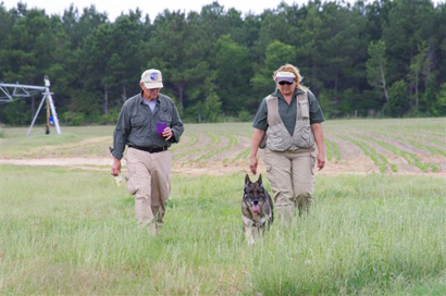 Last Thursday morning the South Georgia Search Dogs, Inc. of Waycross, a nonprofit organization, volunteered their time in bringing over six cadaver dogs to search the area surrounding where Hendrix lived.