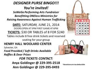 Designer Purse Bingo Poster