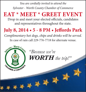 Worth County Chamber of Commerce – Eat, Meet & Greet