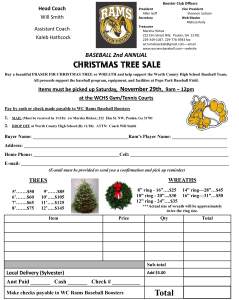 Christmas Tree order form 2014