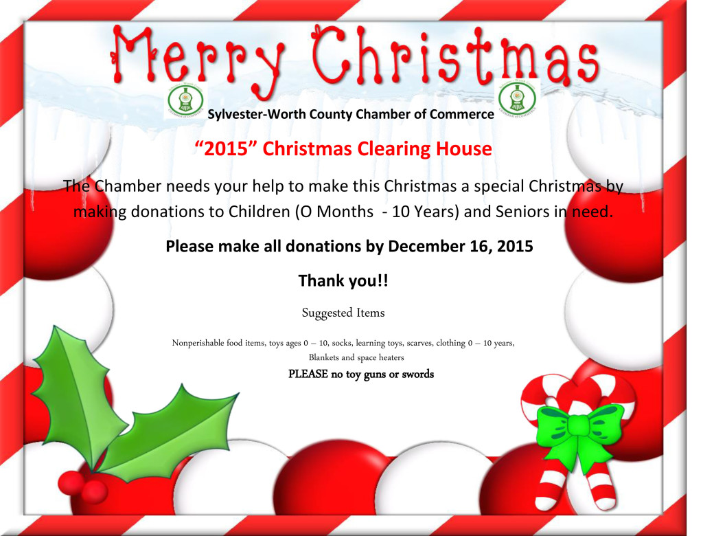 2015Christmas Clearing donationHouse Flyer