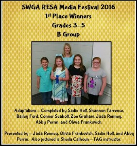 WCES TAG Students Participate in SWGA RESA Media Festival 2016
