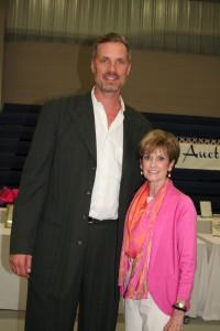Christian Laettner and Tiftarea Academy Headmaster, Diane Womack.