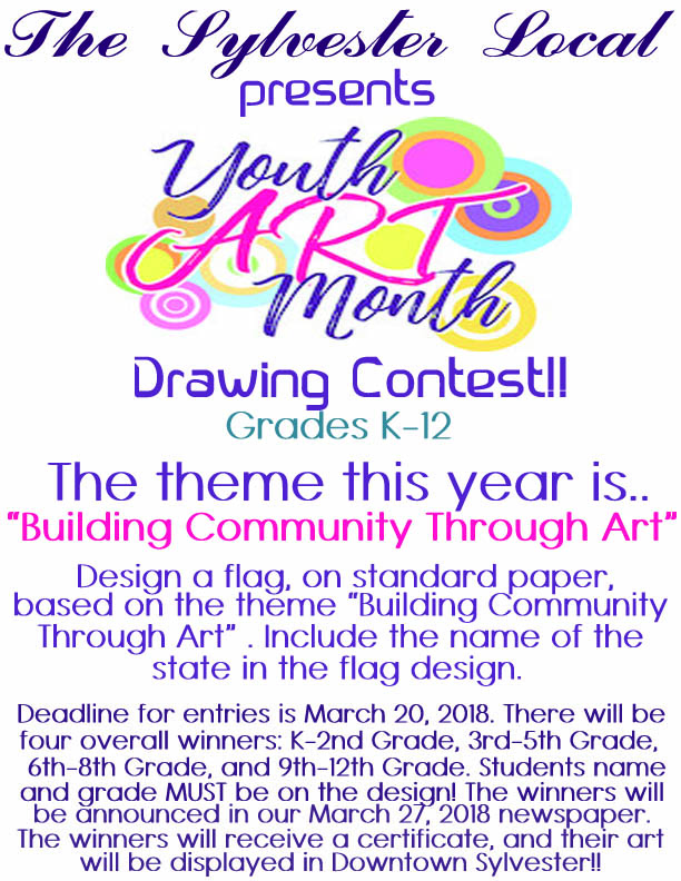Youth Art Month Drawing Contest!!